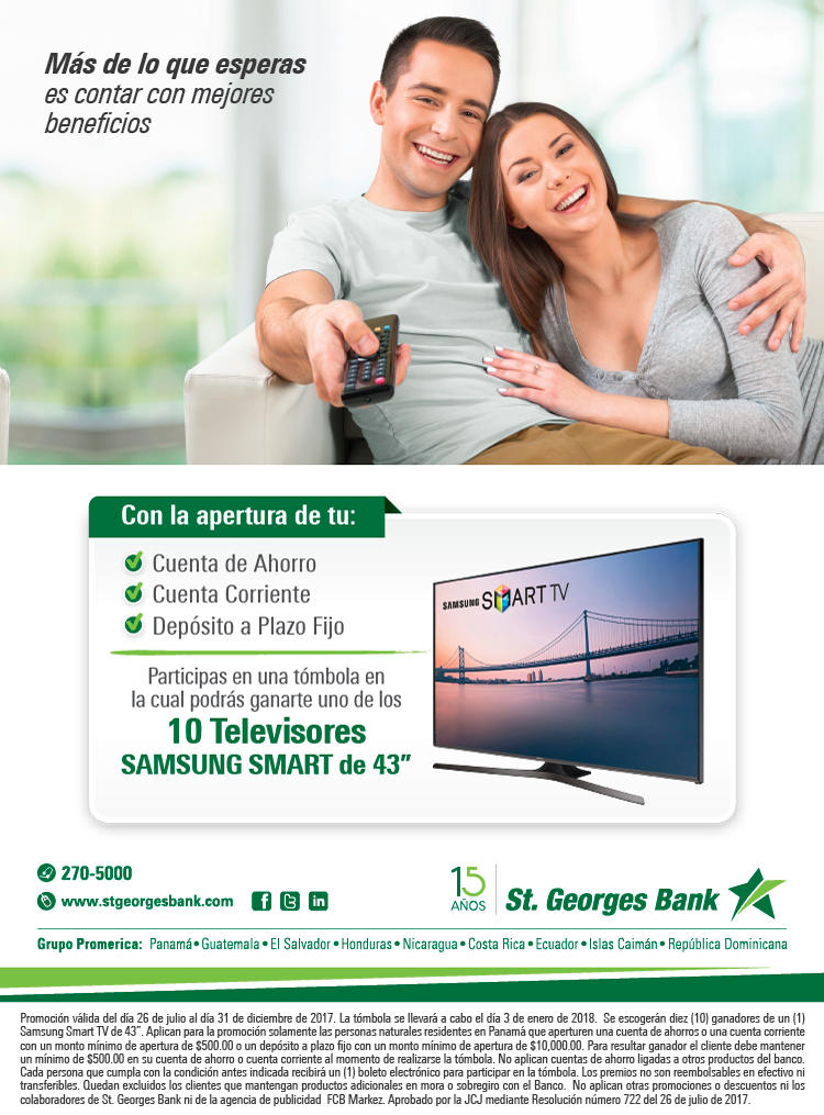 Gánate 10 TV Samsung Smart de 43 pulgadas !!!